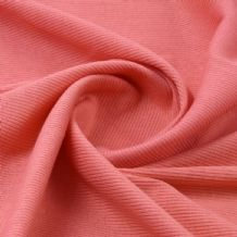 Coral - Plain 100% Cotton 2x1 Rib